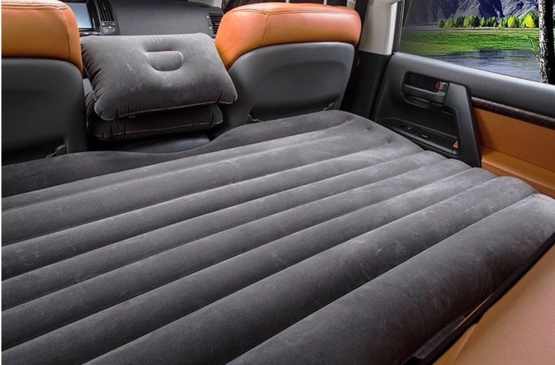 Inflatable Car Back Seat Mattress Protable Travel Camping Air Bed