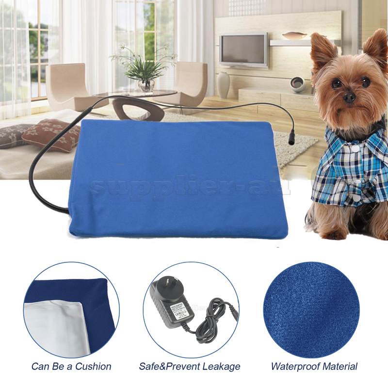 Pet Electric Heating Pad Heated Mat Warmer Blanket Bed For