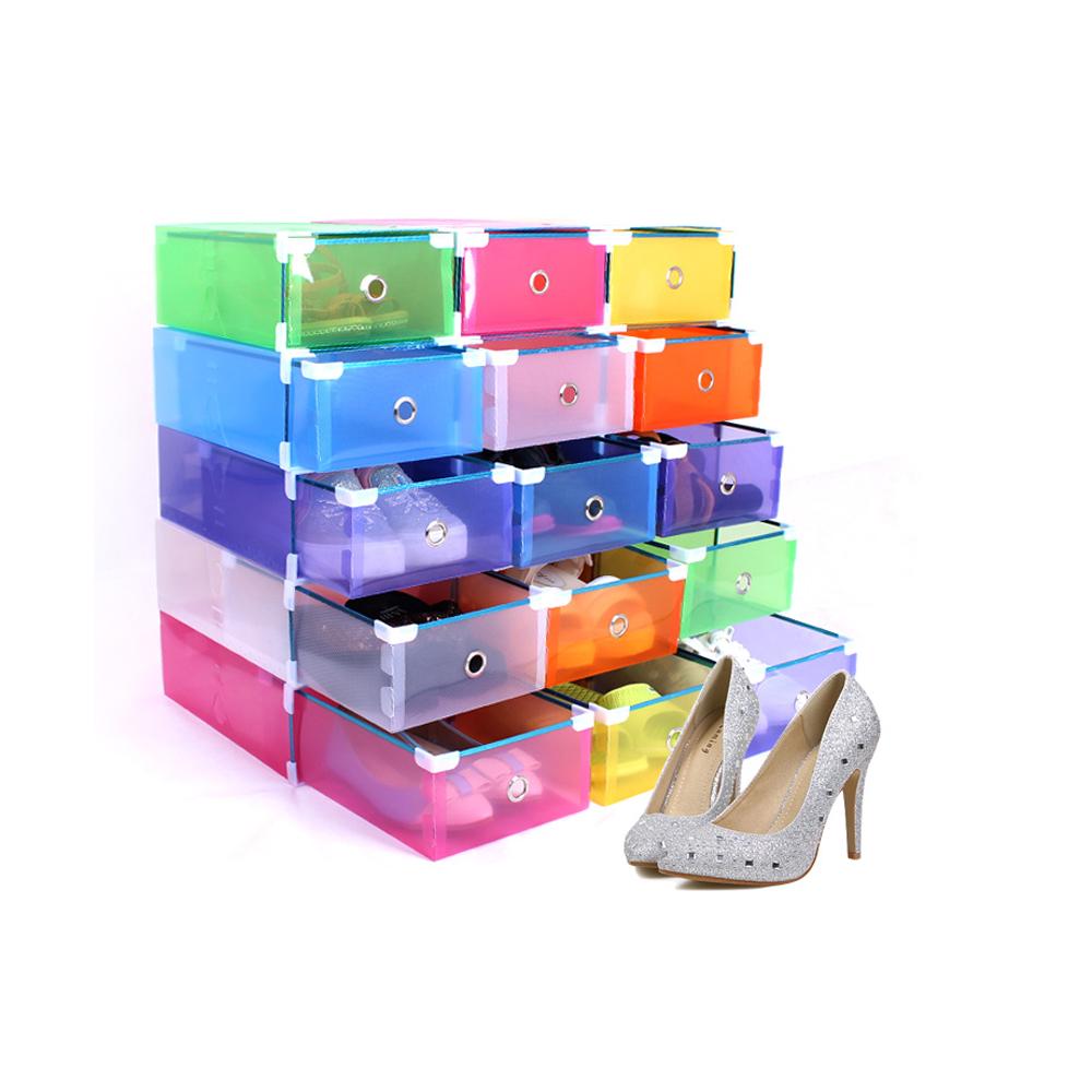 10 bo te chaussures plastique transparent rangement. Black Bedroom Furniture Sets. Home Design Ideas