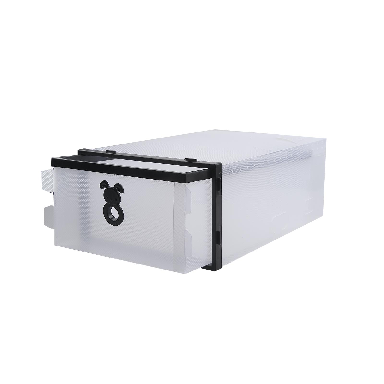 10pcs plastique empilable bo te chaussures housse tiroir. Black Bedroom Furniture Sets. Home Design Ideas