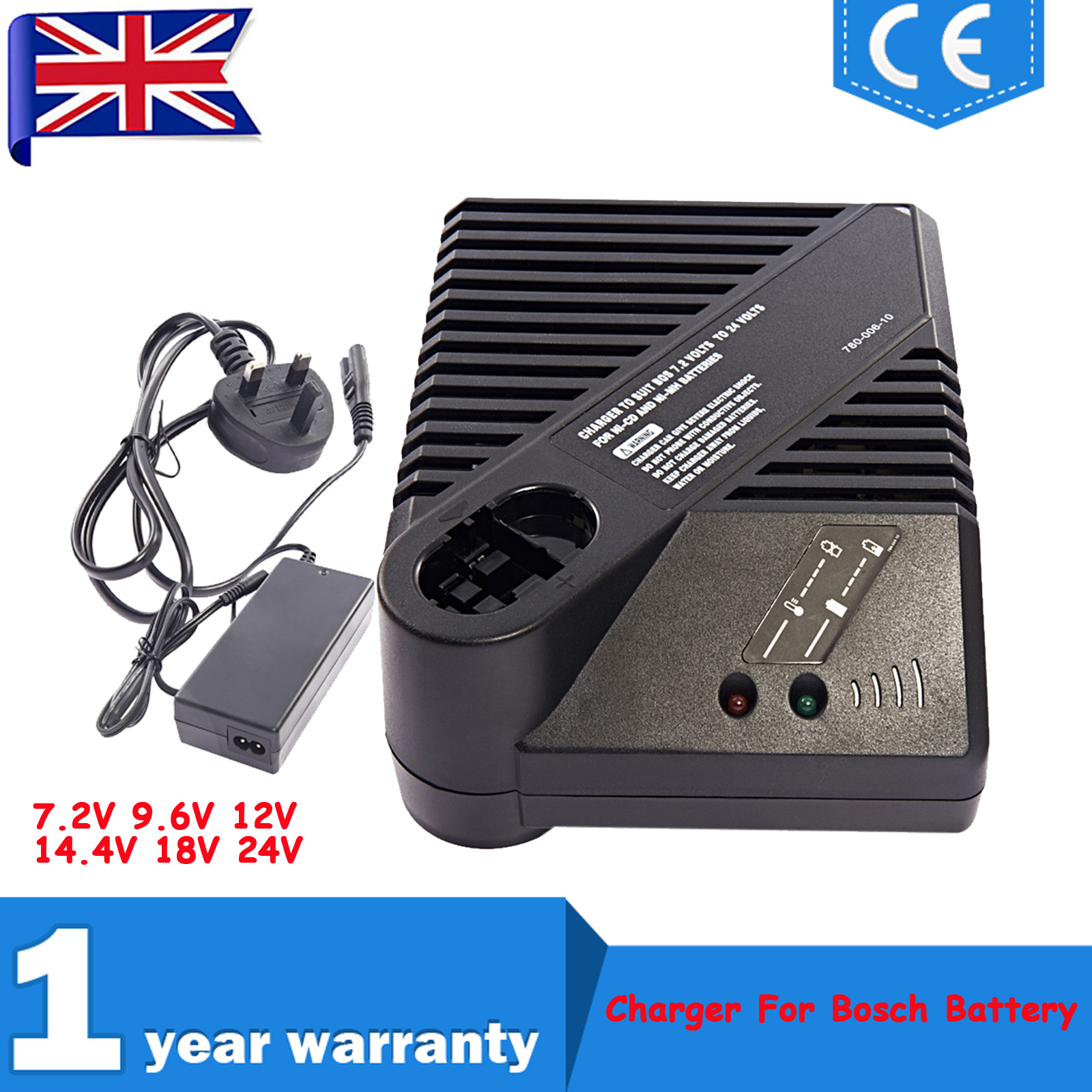 Uk Charger For All 72v 24v Bosch Cordless Drill Ni Cd Ni Mh Power